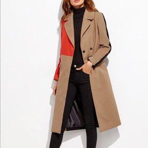 Long multicolored coat